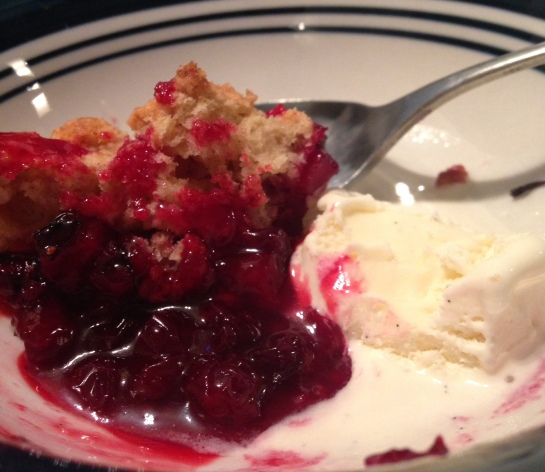 wild alaska cranberry and apple cobbler