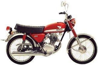 1971 Honda CB100 motorcycl