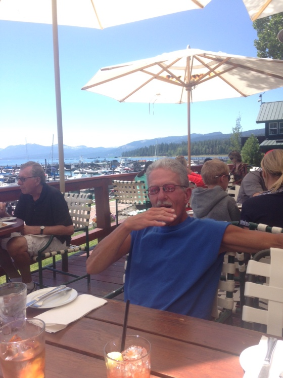 Hot bloody mary! Jakes on the Lake, Tahoe City, Nevada