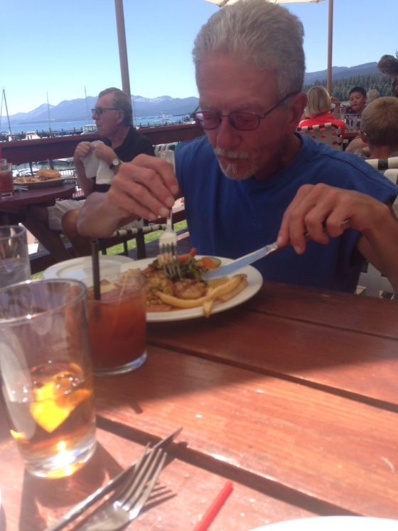 seafood special, Jakes on the Lake, Tahoe City, Nevada