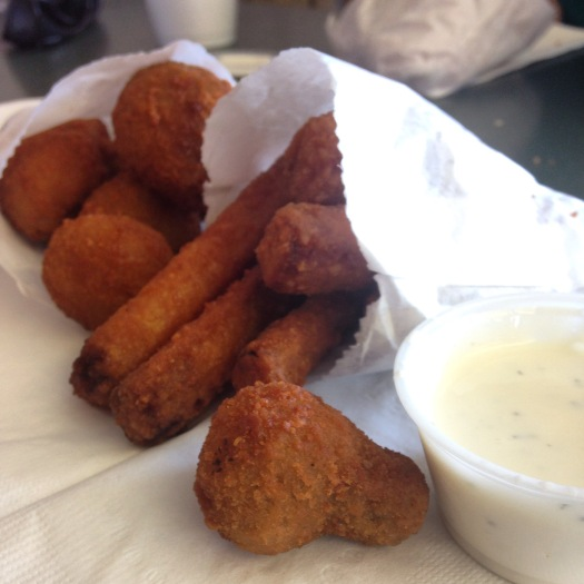 Deep fried mushrooms at the Frosty Mill in Susanville, CA