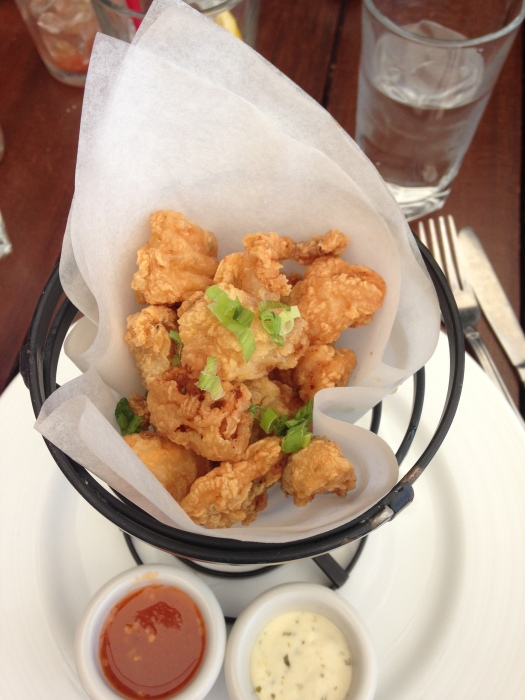Fried calamari with excellent sweet n sour dipping sauce