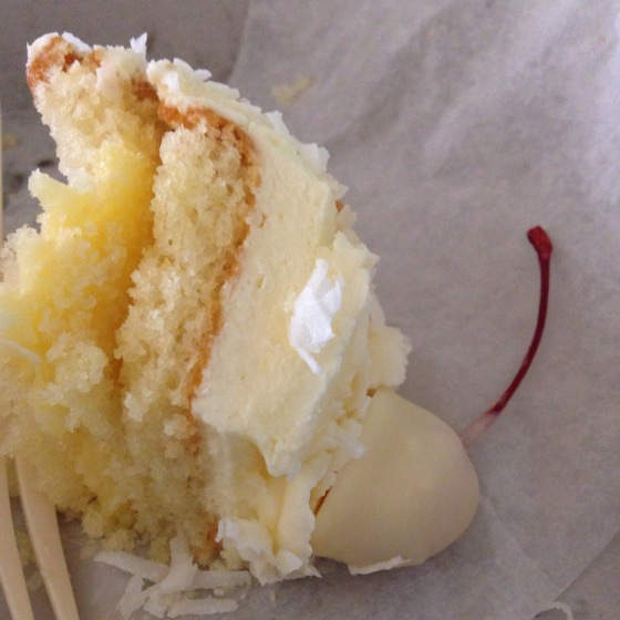 Coconut cake from the Eldorado bakery counter